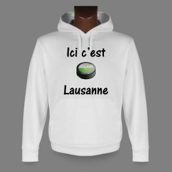 Hooded sweatshirt - Ice Hockey - Ici c'est Lausanne