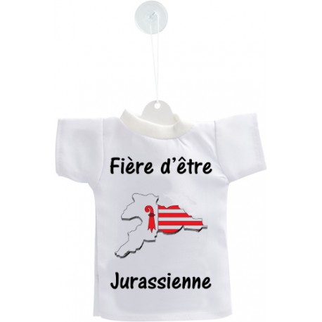 Mini T-shirt - Fière d'être Jurassienne - pour votre voiture