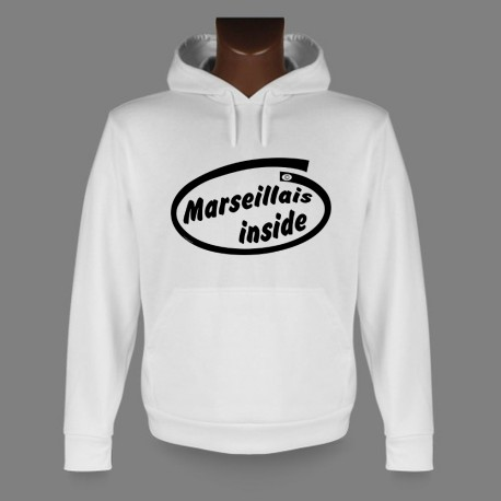 Hooded Funny Sweat - Marseillais inside