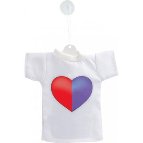 Mini T-Shirt - Coeur tessinois - pour votre voiture