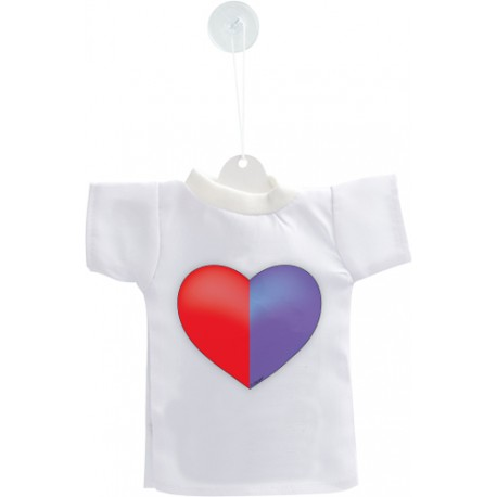 Mini T-shirt - Cuore Ticinese, per automobile