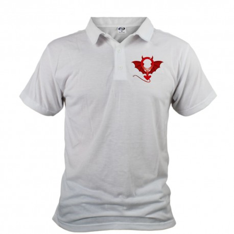 Men's Polo Shirt - Devil Man, Front