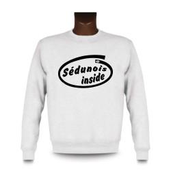 Herren Funny Sweatshirt - Sédunois inside