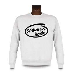 Men's Funny Sweatshirt - Sédunois inside