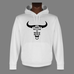 Sweat bianco a cappuccio - The little Big Horn