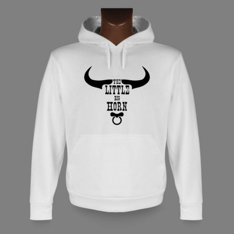 Sweatshirt blanc à capuche - The little Big Horn