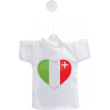 Mini T-Shirt - Coeur neuchâtelois - pour votre voiture