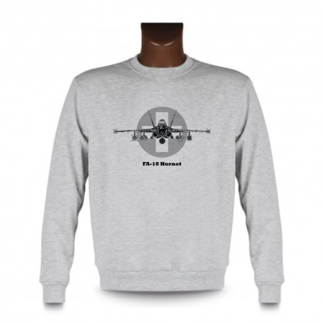 Sweat mode homme - Avion de combat - Swiss FA-18 Hornet, Ash Heater