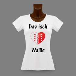 Women's slinky T-Shirt - Das isch Wallis