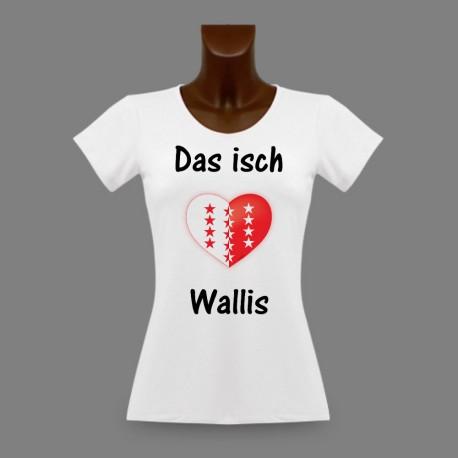 T-Shirt slim moulant pour femme - Das isch Wallis