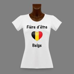 Donna slim T-shirt - Fière d'être Belge