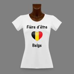 Women's slinky T-Shirt - Fière d'être Belge