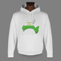 Sweatshirt blanc à capuche - Frontières vaudoises en 3D