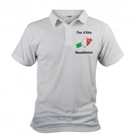 Polo shirt homme - Fier d'être Neuchâtelois, Devant