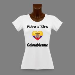 Women's slinky T-Shirt - Fière d'être Colombienne - Colombian heart