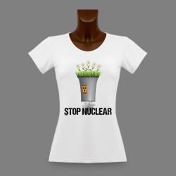 Frauen Slim T-shirt -  Stop Nuclear