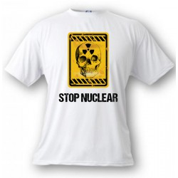 T-shirt - Stop Nuclear - Nuclear Skull, White