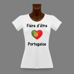 Donna slim T-shirt - Fière d'être Portugaise - cuore portoghese