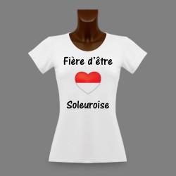 Women's slinky T-Shirt - Fière d'être Soleuroise
