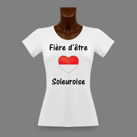 Frauen Slim T-shirt - Fière d'être Soleuroise - Solothurn Herz
