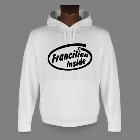 Sweatshirt blanc à capuche - Francilien inside