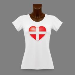 T-shirt slim dame - Coeur Savoyard