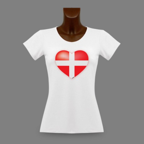 Women's slim T-Shirt - Savoyard Heart