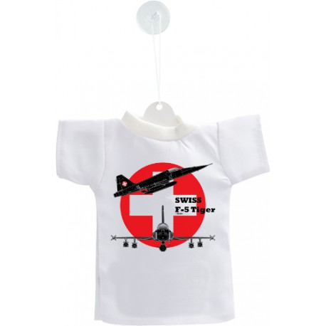 Mini T-Shirt - Kampfflugzeug Swiss F-5 Tiger - Farbversion - Autodekoration