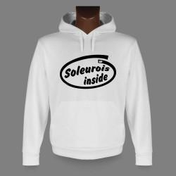 Sweat bianco a cappuccio - Soleurois inside
