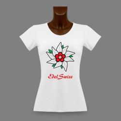 T-Shirt slim dame - EdelSwiss