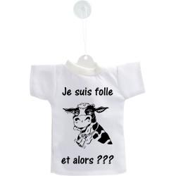 Car's Cow Mini T-Shirt - Je suis folle, et alors ???