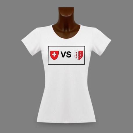 T-Shirt valaisan slim dame - plaques minéralogiques VS