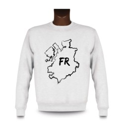Men's Sweatshirt - Fribourg brush borders and FR letters