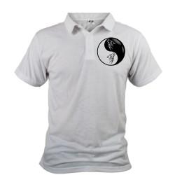 Polo shirt homme - Yin-Yang - Tête de loup Tribal, devant