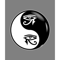 Sticker - Yin-Yang - L'oeil d'Horus tribal - pour voiture, notebook ou smartphone