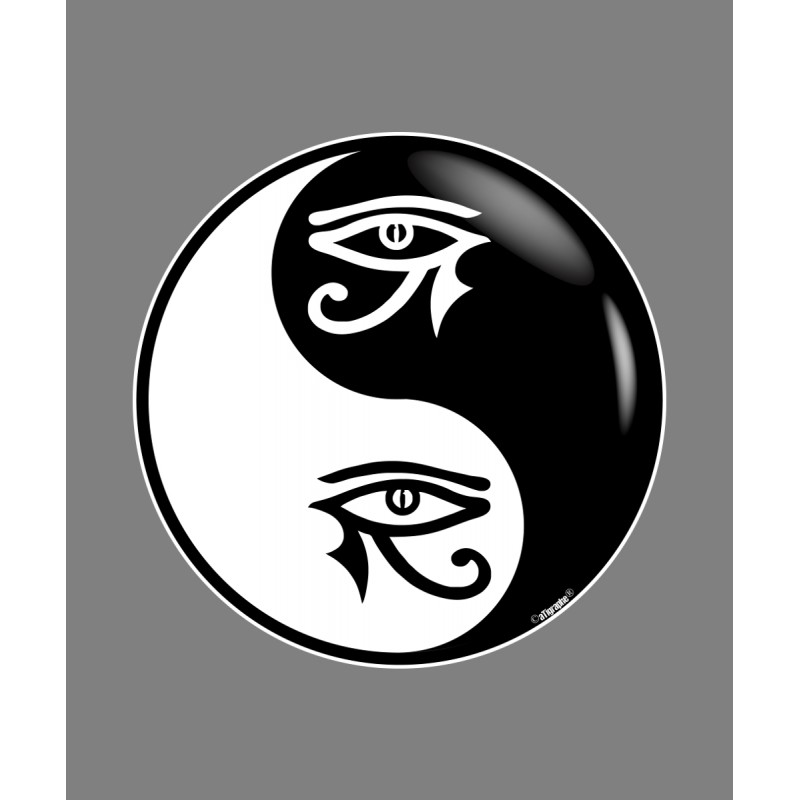 sticker yin yang tribal horus auge f r auto. Black Bedroom Furniture Sets. Home Design Ideas