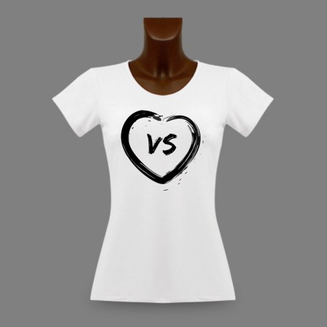 Donna slim Vallese T-shirt - Cuore VS