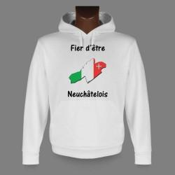 Kapuzen-Sweatshirt - Fier d'être Neuchâtelois