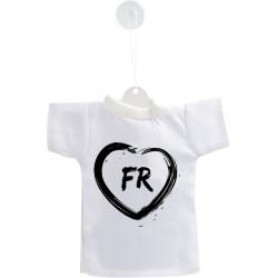 Mini T-Shirt Fribourgeois - Coeur FR- pour votre voiture