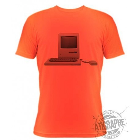"T-Shirt ""MAC intosh"", Safety Orange"