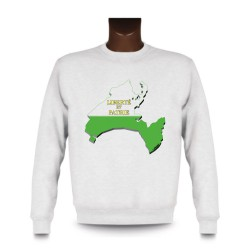 Men's Sweatshirt - Vaud 3D Borders, White