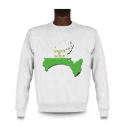 Uomo Sweatshirt - Vaud 3D confini, White