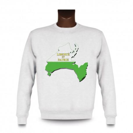 Men's Sweatshirt - Waadt 3D Grenzen, White