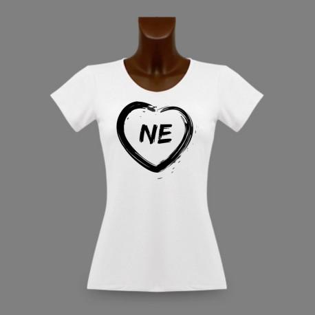 T-Shirt Neuchâtelois slim dame - Coeur NE