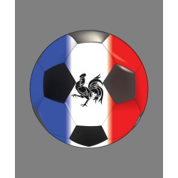 Sticker - ballon de football français - pour voiture ou notebook