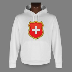 Kapuzen-Sweatshirt - Schweizer Wappen