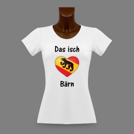 T-Shirt slim moulant dame - Das isch Bärn - coeur bernois