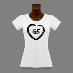Frauen Genfer Slim T-shirt - GE Herz