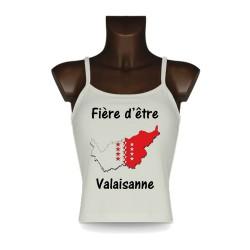 Women's Top débardeur - Fière d'être Valaisanne - Frontières 3D, Natural