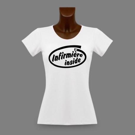 Women's slim T-Shirt - Infirmière Inside